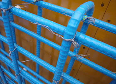 U-shaped wire tying steel bars.