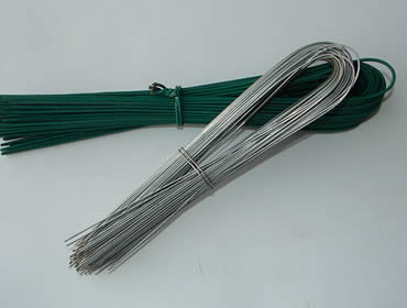 Two u-shaped galvanized wires tied